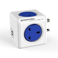 Allocacoc Powercube 7200 Original (USB) -Block Extension Leads * Cobalt Blue