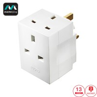 Masterplug 3 Socket 13A Fused Adapter (MSF3-MP)