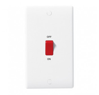 (50% Off) British General 872-01 45A DP Switch with LED indicator - Double Plate
