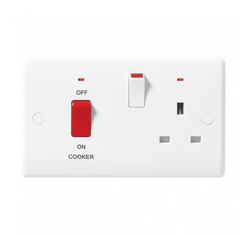 (50% Off) British General 870-01 45A DP Cooker Control Unit with 13A LED indicator Socket