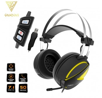 Gamdias HEBE M1 RGB 7.1 Surround Sound Gaming Headset (HEBE M1)