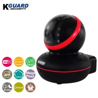 KGuard Security 1080P WiFi Pan/Tilt IP Camera with Night Vision Black (QRT-601)