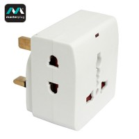 Masterplug 2 Pin 3 Socket 10A Adapter (MS16N-MP)