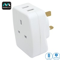 Masterplug 2 USB (2.1A) 3-Pin Adapter (AUSBW2-MPA)