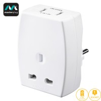 Masterplug USB (2.1A) Travel Adapter - EURO (TAUSBEUR2-MP)