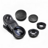 Bomgogo Govision L1 Universal 3 in 1 Camera Lens Kit / Fish Eye Lens / Macro Lens / Wide Angle Lens