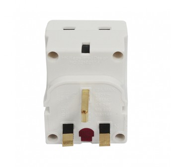 Masterplug Adapter Universal Socket 3-Pin Adapter w/3 Control Switched*MSWG3-MP