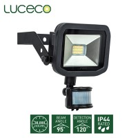 Luceco Guardian Slimline LED Floodlight with PIR 6500K Cool Daylight 8W 600 Lumen (LFSP6B165)