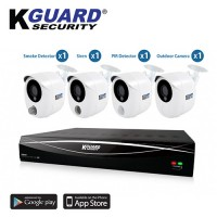 KGuard Security Hybrid Series Combo Set CCTV 4 Channel 4 Camera 1080p FHD (HD481-4KT01)