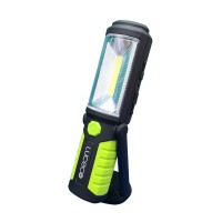 Luceco LED Rechargeable 3W Torch Multiposition with USB Power Bank