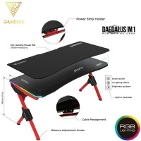 Gamdias Daedalus M1 RGB Gaming Desk Red (DAEDALUS M1)