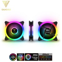 Gamdias Aeolus M2 1201 120mm RGB Case and Radiator Fan (AEOLUS M2-1201)