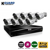 KGuard Security Hybrid Series Combo Set CCTV 8 Channel 8 Camera (HD881-8WA811L)