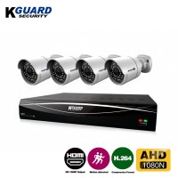 KGuard Security Hybrid Series Combo Set CCTV 4 Channel 4 Camera (HD481-4WA811L)