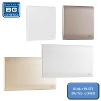 British General Neo Slimline Wall Switch Blank Plates Socket Cover