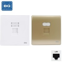 British General Neo Slimeline 1 Gang LAN Outlet RJ45 Wall Socket