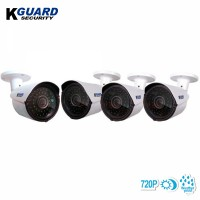 Kguard Security Easy Link Plus Series 4 Camera Kit 720p HD Weatherproof Bullet Camera with Automatic Day & Night Vision (WA713AP4)