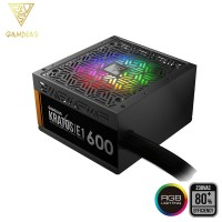 Gamdias KRATOS E1-600W Addressable RGB 600W Power Supply Non-Modular RGB PSU (KRATOS E1 600W)