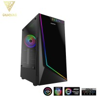 Gamdias ARGUS E3 Mid Tower ATX PC Casing RGB Desktop Casing Panoramic Tempered Glass Side Panel Chassis
