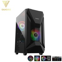 Gamdias ATHENA E1 Mid Tower ATX PC Casing RGB Desktop Casing Panoramic Tempered Glass Side Panel Chassis