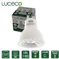 Luceco LED Lamp GU10 Non-Dimmable Truefit Replace Any GU10 Lamp 6000K Cool Daylight 7W 500 Lumen (LGC7W50P)