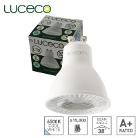 Luceco LED Lamp GU10 Dimmable Truefit Replace Any GU10 Lamp 6500K Cool Daylight 5W 370 Lumen (LGDC5W37P)