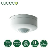 Luceco Guardian Indoor PIR Motion Sensor 240V 360 degree IP20 Surface (LGIP20CSW-01)