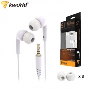 Kworld Mobile Gaming Earphones Enhanced Bass with Inline Microphone (KW-S11)