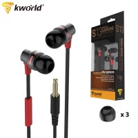 Kworld Mobile Gaming Earphones Clear Middle Frequency with Inline Microphone (KW-S13)