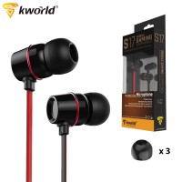 Kworld Mobile Gaming Earphones Enhanced Bass Aluminium Allow with Inline Microphone (KW-S17)