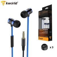 Kworld Mobile Gaming Earphones Excellent Design Specific Audio Technology with Inline Microphone (KW-S18)