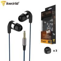 Kworld Elite Mobile Gaming Earphones Memory Foam Tips with Inline Microphone (KW-S27)