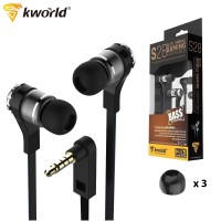 Kworld Elite Mobile Gaming Earphones Adjustable Sound Effect with Inline Microphone (KW-S28)