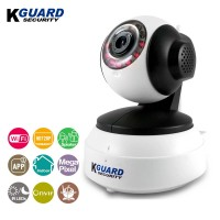 KGuard Security 720P WiFi Pan/Tilt IP Camera with Night Vision White (QRT-501)