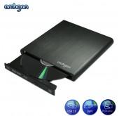 Archgon Blue Aurora USB External Blu-Ray Writer Mobile BD-RW Black (MD-3107-U2)