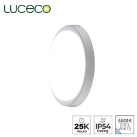 Luceco Eco Decorative Indoor IP54 LED Bulkhead 6500K Cool White 1250lm 14W Ceiling Light (EBH22S65)
