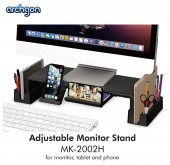 Archgon Adjustable Multipurpose Monitor Stand + Storage Box (MK-2002H) for Monitor, Tablet and Phone