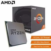 AMD Ryzen 5 2600 6 Core 12 Thread Desktop Processor 3.9Ghz Max Boost AM4 CPU with Heat Sink (YD2600BBAFBOX)
