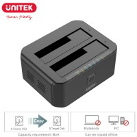 """Unitek Dual Bay SATA III Docking Station For 2.5 and 3.5"""" HDD SSD USB 3.0 5Gbps Super Speed (Y-3032)"""