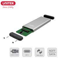 Unitek NGFF / SATA M.2 SSD Aluminium Enclosure USB 3.0 Type-C Supports 5Gbps Data Transfer (Y-3365)