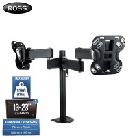 Ross Neo Double Arm 13-23 inch Monitor Desk Mount (LNDM2XDA100-RO)