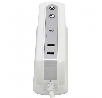 Masterplug 6 Gang 2 USB Surge Protector 2 Meter Extension Leads Glossy White (SRGDU62PW-MP)