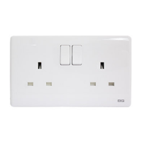 British General PCWH22 *2-Gang 13Amp Switched Socket Outlet