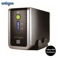 "Archgon USB 3.0 2.5"" / 3.5"" Dual Bay HDD Enclosure (MH-3622RD-U3P)"